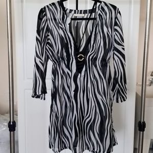 Other - Zebra print coverup